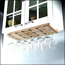 under cabinet wine glass rack wood holder u ikea malaysia top photo of riveting metal beautiful