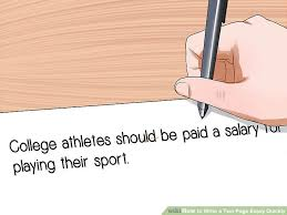 how to write a two page essay quickly pictures wikihow image titled write a two page essay quickly step 7