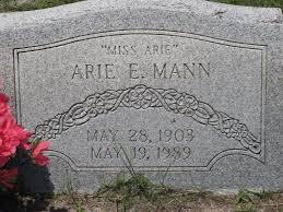 Arie Etta Mann (1903-1989) - Find A Grave Memorial