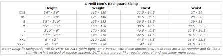O Neill Youth Size Chart Details About Oneill Mens Basic Skins Long Sleeve Rashguard