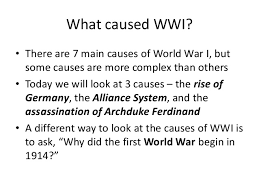 of world war essay causes of world war 1 essay