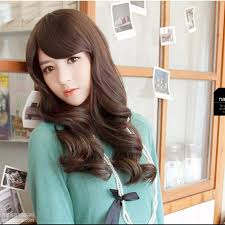 Asian Teenage Cute Long Hairstyles With Side Bangs For Wavy Hair