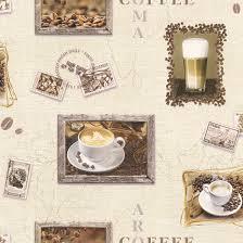 Kitchen Wallpaper Designs Wallpaper Rasch Deco Style Coffee Cream Beige 855111