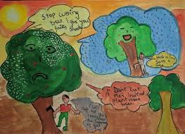 paintings by aabha ashutosh karle thoughts to save trees part of child artists directory