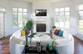 How To Find The Perfect Place For Your Curved Sofa Or Sectional Simple Two Sofa Living Room Design Property