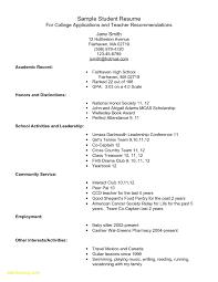 23 Freshman College Student Resume Free Sample Resume