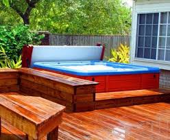 hot tub deck. Hot Tub Deck Plans With Seating