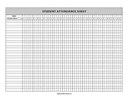 Student Attendance Sheet Free Printable Allfreeprintable Com