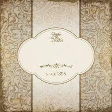 Background Floral For Menu Card Vintage Elegant