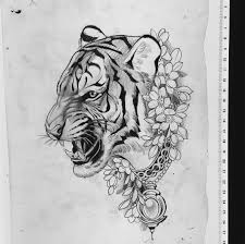Tiger Tattoo Sketch At Paintingvalleycom Explore Collection Of
