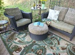 stunning outdoor rug design for patio