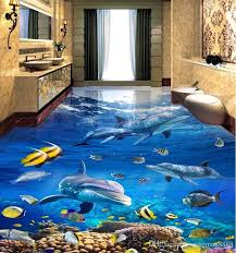 custom vinyl flooring lovely vinyl flooring customized wallpaper sea world dolphin 3d floor gallery