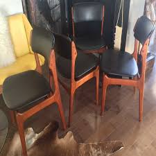 4 erik buch od 49 mid century modern teak chairs reupholstered ideas with contemporary dining room