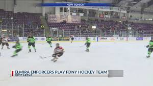Elmira Enforcers Play The Fdny At First Arena