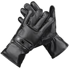 Thermal <b>Electric Heated Gloves Winter</b> Skiing Gloves Unisex Black ...