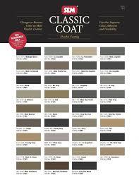 Sem Leather Paint Color Chart