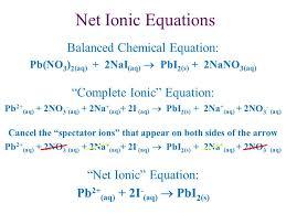 4 net ionic equations