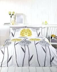 callium dandelion lemon yellow beige grey white duvet cover quilt bedding set grey and yellow duvet