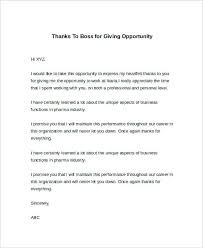 Thank You Letter Boss Best Ideas Of For Giving Training Opportunity