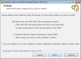 Nse India Nifty Chart Ninjatrader Nse Nifty 50 Charts Via Three Nse Data Feed
