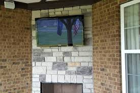 mount tv on stacked stone fireplace installing wall outdoor installing tv wall mount on stone fireplace
