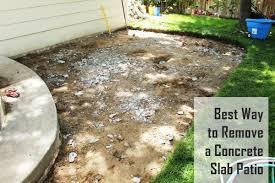 remove concrete slabs on a patio