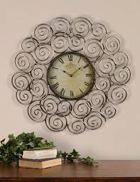 double extra large black wall clock plus mirror design idea