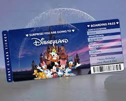 Disney Trip Tickets Surprise Disney ...