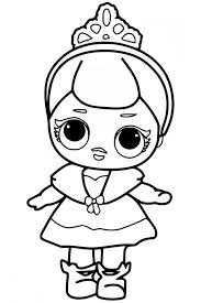 Lol Surprise Coloring Pages Queen Bee Doll Valentine Coloring Page