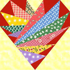 Feathers In My Heart Paper Pieced Block Pattern. | Patterns 3 ... & Feathers In My Heart quilt block pattern, paper pieced quilt patterns PDF… Adamdwight.com