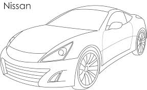 Super car - Nissan coloring page for kids