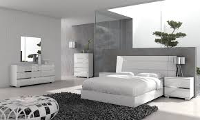 White Contemporary Bedroom Furniture Bed — Contemporary Furniture ...