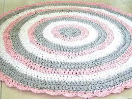 rugs for baby girl nursery crochet rug round doily area ba