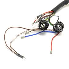 bsa 1966 67 a50 a65 uk made 12 volt wiring harness h040 fits early 12 volt a50 and a65 models two switches in headlight perfect for restorations this high quality wiring harness is faithfully made to
