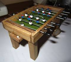 Miniature Wooden Foosball Table Game 100 best Dollhouse Game Room images on Pinterest Dollhouse 79