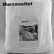 dkny donna karan pure comfy full queen duvet cover white