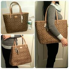 New Coach large metro tote signature khaki