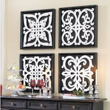 ... Astounding Design Black And White Wall Decor Nice New Ballard Pattern  Plaques Walls ...