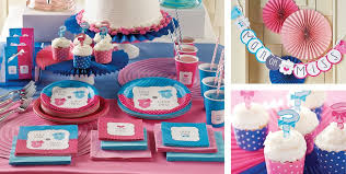 little man little miss gender reveal party supplies party city