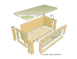 storage bench plans. Brilliant Bench Image Detail For How To Build An Outdoor Storage Bench A Plans 7 B