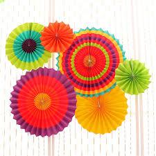 online get cheap tissue paper suppliers com alibaba 6pcs set tissue paper fan craft party event decoration hanging tissue paper flower fans favor
