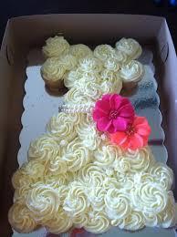 Cupcake Wedding Dress Cake That Matches Brides Dress Bridal