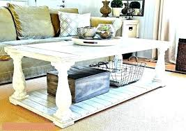 weathered white coffee table distressed paint look finish shabby chic blue furniture rustic ca spray for