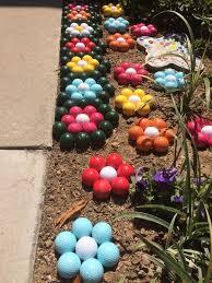 Golf Ball Decorations Golf ball flowers lawn decoration california drought Golfer 48