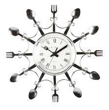 Big Kitchen Wall Clocks Large Kitchen Wall Clocks Stainless Steel Material Unique Knife