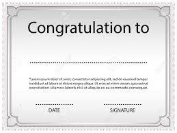Congratulation Certificate Congratulation Certificate Barca Fontanacountryinn Com