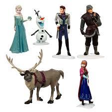 Frozen Elsa Anna Olaf Playset Mini Figure <b>Set</b> Cake Topper Kids 6 ...