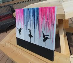 Melted Crayon Art Ballerina Silhouette