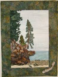 Cliff at Lake Superior - Media - Quilting Daily | AbSoand quilts ... & Cliff at Lake Superior - Media - Quilting Daily Adamdwight.com