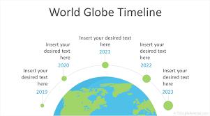 World Globe Timeline Powerpoint Template Templateswise Com